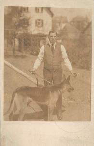 F27/ Animal RPPC Photo Postcard c1910 Dog German Shepard 12