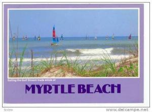Sailboats, Myrtle Beach, South Carolina, PU-1987
