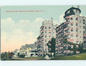 Divided-Back HOTEL SCENE Mohonk Lake - Marbletown - New Paltz New York NY H0408