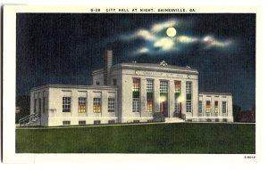 City Hall at Night, Gainesville, GA