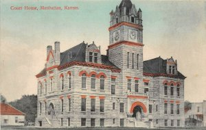 LP12   Manhattan   Kansas Postcard Court House