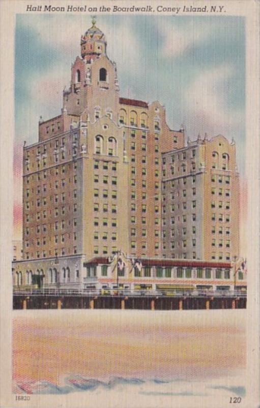 New York City Coney Island Half Moon Hotel1946