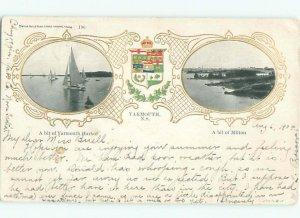 1904 TWO VIEWS ON ONE POSTCARD Yarmouth Nova Scotia NS AF4895