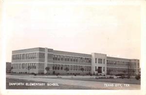 Texas City Texas Danforth Elementary School Real Photo Postcard JA4742442