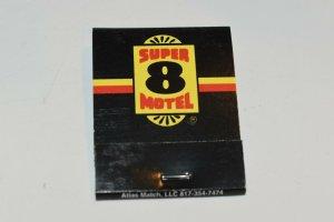 Super 8 Motel 20 Strike Matchbook
