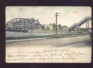 TAMPICO MEXICO 1906 PUENTE ROMERO RUBIO BRIDGE VINTAGE MEXICAN POSTCARD