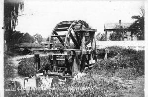 Shippensburg Pennsylvania Old Water Wheel Real Photo Antique Postcard K95694