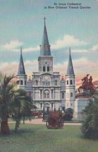 Louisiana New Orleans St Louis Cathedral Curteich