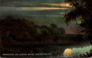 Kentucky Covington Moonlight On Licking River 1912