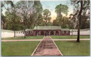 Wakulla Springs, Florida Postcard The Bath House Hand-Colored Albertype c1930s