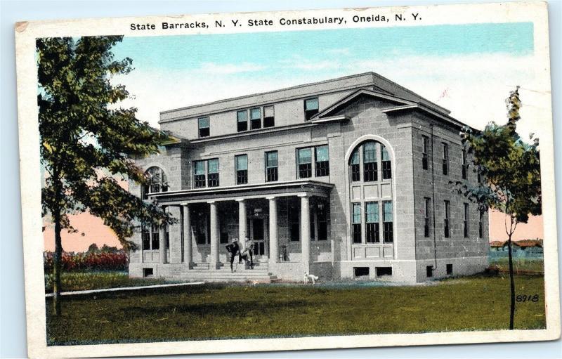 State Barracks State Constabulary Oneida NY New York Vintage