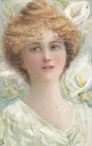 TUCK 2699 The Lilly Series , Arum Lilly , 1907