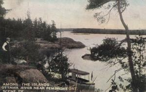 Near PEMBROKE, Ontario, Canada, PU-1908; Among the Islands, Ottawa River