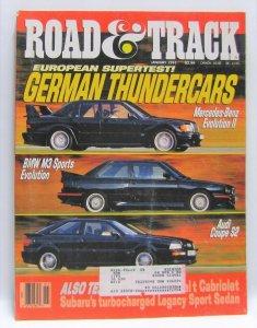 Road & Track January 1991 Vintage Magazine German Thundercars
