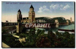 Postcard Old Koln Rhein Hohenzollernbrücke