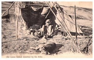 Old CAsca Indian deserted by hie tribe