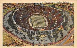 Football Stadium Post Card Rose Bowl Pasadena, Ca USA Unused