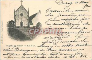 Postcard Old Chapel FA Romay and Co. (map 1900)