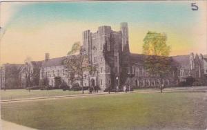 North Carolina Durham The Union Building Duke University Handcolored Albertype