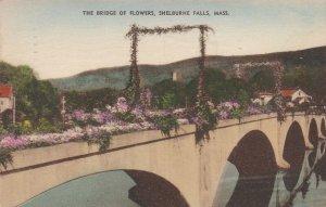 Massachusetts Shelburne Falls Bridge Of Flowers 1936 Albertype sk4897