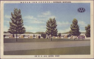 BOZEMAN, view of the Motor Inn Courts located on US 10, 1940s