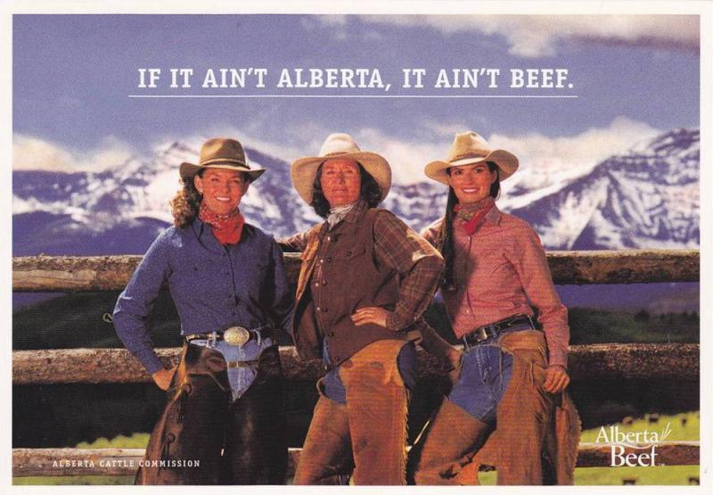 3 Cowgirls: If it Ain't Alberta , It Ain't Beef , Canada , 60-70s