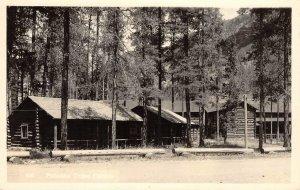 PAHASKA TEPEE CABINS Cody, Wyoming Resort Lodge RPPC ca 1940s Vintage Postcard