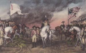 Surrender Of Cornwallis To George Washington 19 October 1781 Handcolored Albe...
