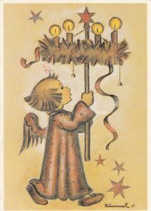 HUMMEL : Christmas Angel - Engel mit Adventkranz , 1990s