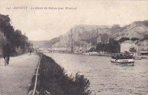 Belgium Dinant Le depart du Bateau pour Waulsort 1907