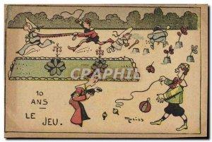 Old Postcard Fantasy Illustrator 10 years the game Children Moriss