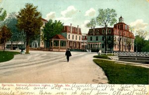 ME - Togus. National Soldiers Home, Barracks. *RPO- Boston & Bangor RR