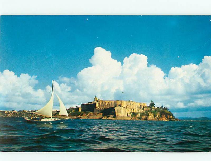 Vintage Post Card Morro Castle Spanish Fortress Puerto Rico New World   # 3748