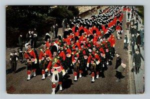 UK-United Kingdom, 2nd Seaforth Highlanders On Manoeuvres, Vintage Postcard