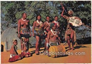 Natal, South Africa Postcard Post Card Tribal Customs Die Hard