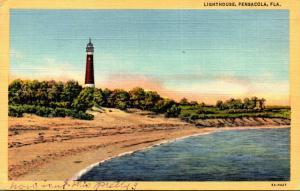 Florida Pensacola Lighthouse 1951 Curteich