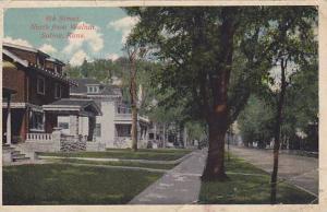 Residence Scene, 8th Street, North from Walnut, Salina,  Kansas, PU-00-10s