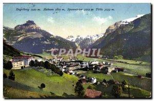 Old Postcard Switzerland Engelberg Titlis Hahnen Spannörter