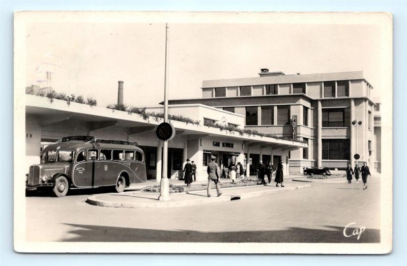 Postcard France Vichy Post Office and Bus Station RPPC Real Photo K11