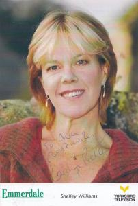 Shelley Williams of Emmerdale Farm Hand Signed Cast Card Photo