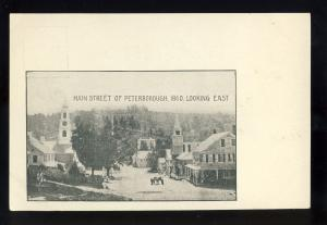 Peterborough, New Hampshire/NH Postcard, Main Street Looking East