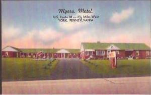 PA York Myers Motel