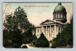 Salem OR-Oregon, State Capitol & Grounds, Vintage c1907 Postcard