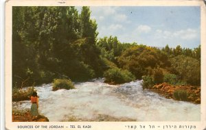 Judaic Post Card Sources of the Jordan Tel El Kadi 1965