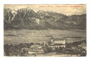 Innsbruck, Austria, PU-1913, Schloss Anbras u. Karwendelgebirge