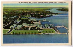 Aerial View, US Naval Academy, Annapolis MD