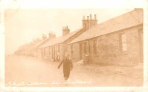 Scotland, UK Old Vintage Antique Post Card Street Scene Real Photo Unused