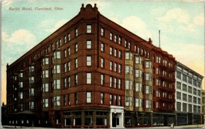 Cleveland OH ~ Beaux Arts Euclid Hotel~Bay Windows c1910 Postcard