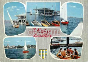 Postcard Moderne Vichy (Allier) Ideal Vacation Station Sante its Lac d'Allier...