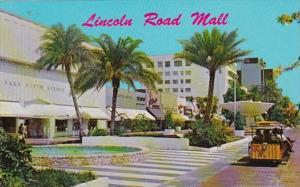 Florida Miami Beach Lincoln Road Mall Tram Cars